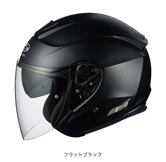OGK(オージーケー) スポーツジェットヘルメット ASAGI(アサギ) (フラットブラック/M(57~58cm))