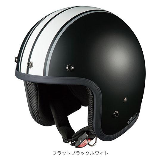 OGK(オージーケー) ジェットヘルメット フォーク G1 (フラットブラックホワイト/57~59cm)