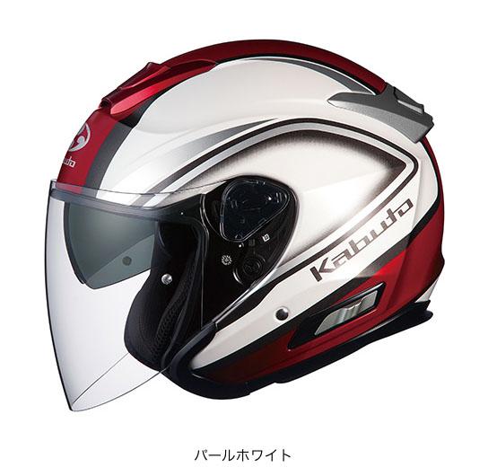 OGK(オージーケー) スポーツジェットヘルメット ASAGI(アサギ) クレガント (パールホワイト/XXL(63~64cm))