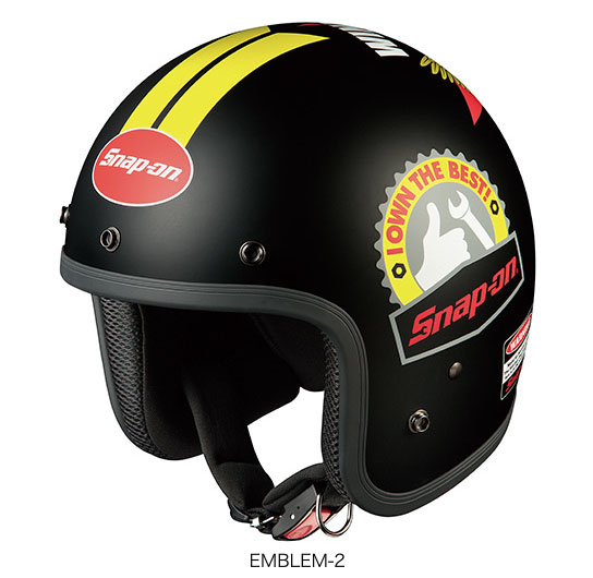 OGK(オージーケー) ジェットヘルメット フォーク・スナップオン (EMBLEM-2/57~59cm)
