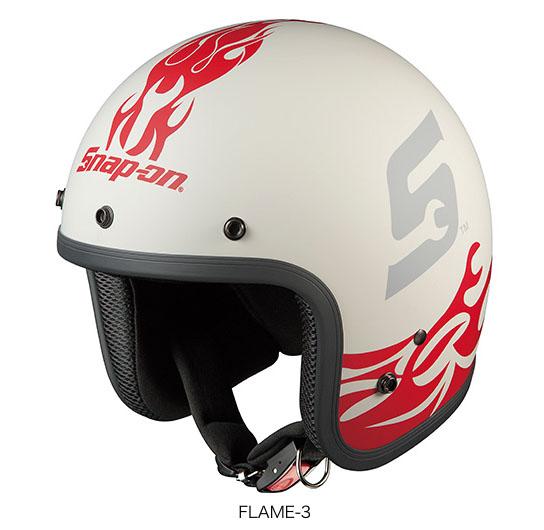 OGK(オージーケー) ジェットヘルメット フォーク・スナップオン (FLAME-3/57~59cm)