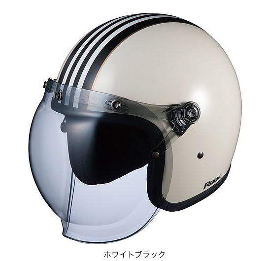 OGK(オージーケー) ジェットヘルメット ロック・G1 (ホワイトブラック/57~59cm)