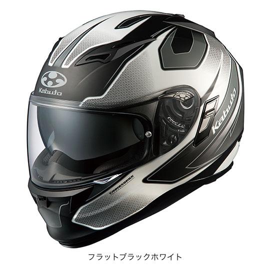 OGK(オージーケー) フルフェイスヘルメット KAMUI(カムイ)・2 スティンガー (フラットブラックホワイト/L(59~60cm未満))