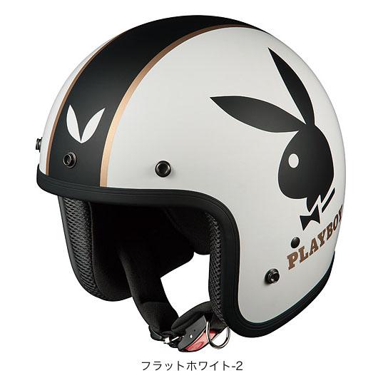 OGK(オージーケー) ジェットヘルメット フォーク・プレイボーイ (フラットホワイト-2/57~59cm)