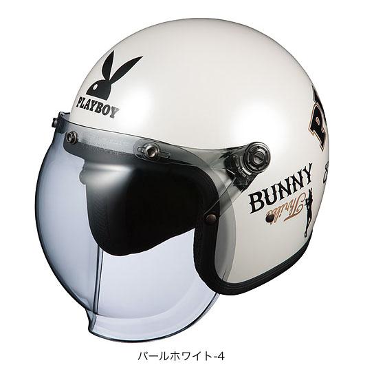 OGK(オージーケー) ジェットヘルメット ロック・プレイボーイ (パールホワイト-4/57~59cm)