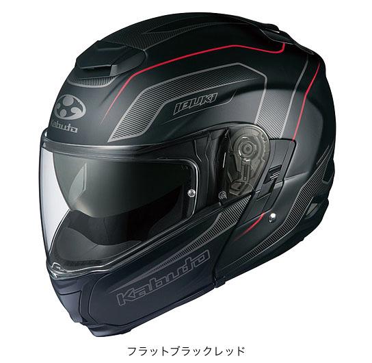 【K】OGK(オージーケー) フルフェイスヘルメット IBUKI(イブキ)・エンヴォイ (フラットブラックレッド/XXL(63~64cm))