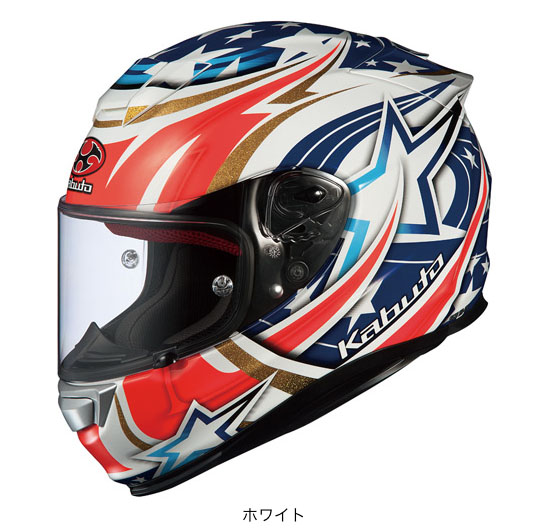 OGK(オージーケー) フルフェイスヘルメット RT-33 アクティブスター (ホワイト/M(57~58cm))