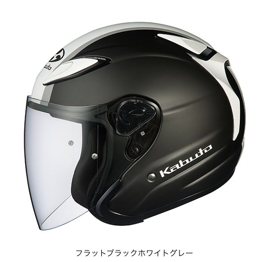 OGK(オージーケー) スポーツジェットヘルメット AVAND(アバンド)・2 エスケープ (フラットブラックホワイトグレー/L(59~60cm未満))