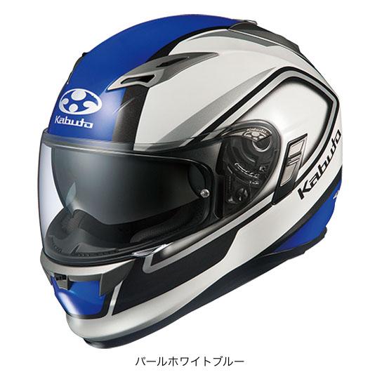 OGK(オージーケー) フルフェイスヘルメット KAMUI(カムイ)・2 クレガント (パールホワイトブルー/S(55~56cm))