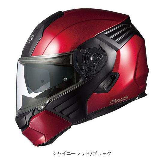 OGK(オージーケー) フルフェイスヘルメット KAZAMI(カザミ) (シャイニーレッド/ブラック/L(59~60cm未満))