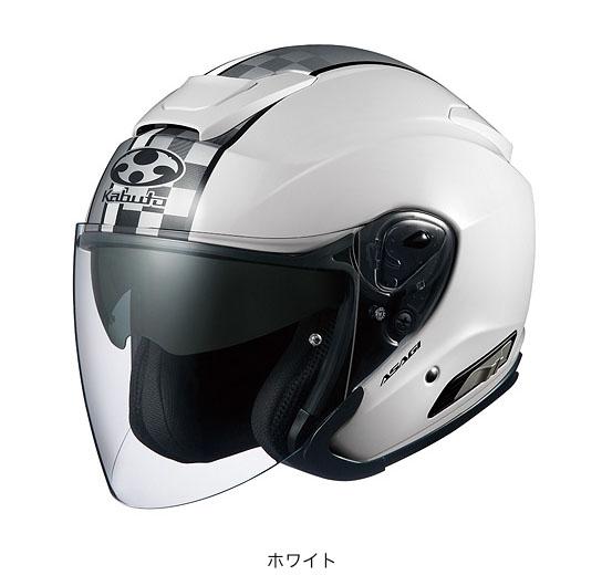 OGK(オージーケー) スポーツジェットヘルメット ASAGI(アサギ)・スピード (ホワイト/S(55~56cm))