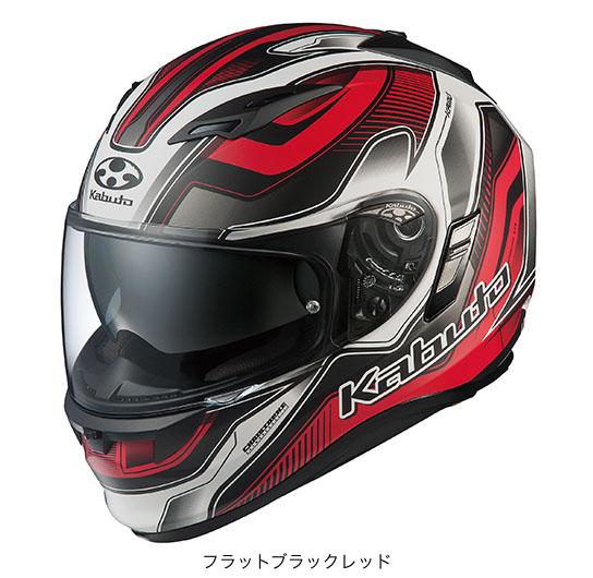 OGK(オージーケー) フルフェイスヘルメット KAMUI(カムイ)・2 ハマー (フラットブラックレッド/L(59~60cm未満))