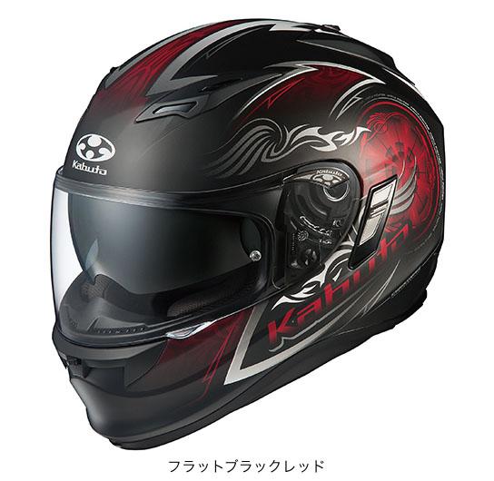OGK(オージーケー) フルフェイスヘルメット KAMUI(カムイ)・2 ブレイズ (フラットブラックレッド/L(59~60cm未満))