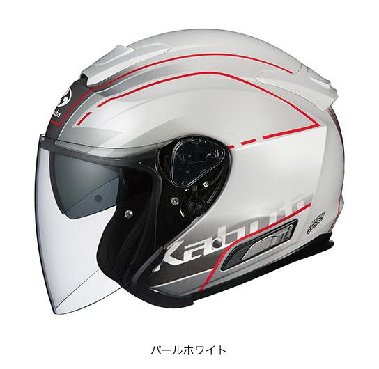 【K】OGK(オージーケー) スポーツジェットヘルメット ASAGI(アサギ) ビーム (パールホワイト/M(57~58cm))
