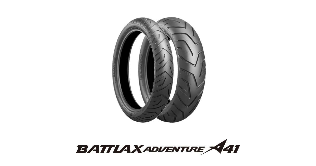 注目の ブリヂストン 二輪車用タイヤ BATTLAX(バトラックス) ADVENTURE (MCS01412) A41 (MCS01412) A41 (フロント)90/90V21(54V)TL, 邑南町:40c58b65 --- business.personalco5.dominiotemporario.com