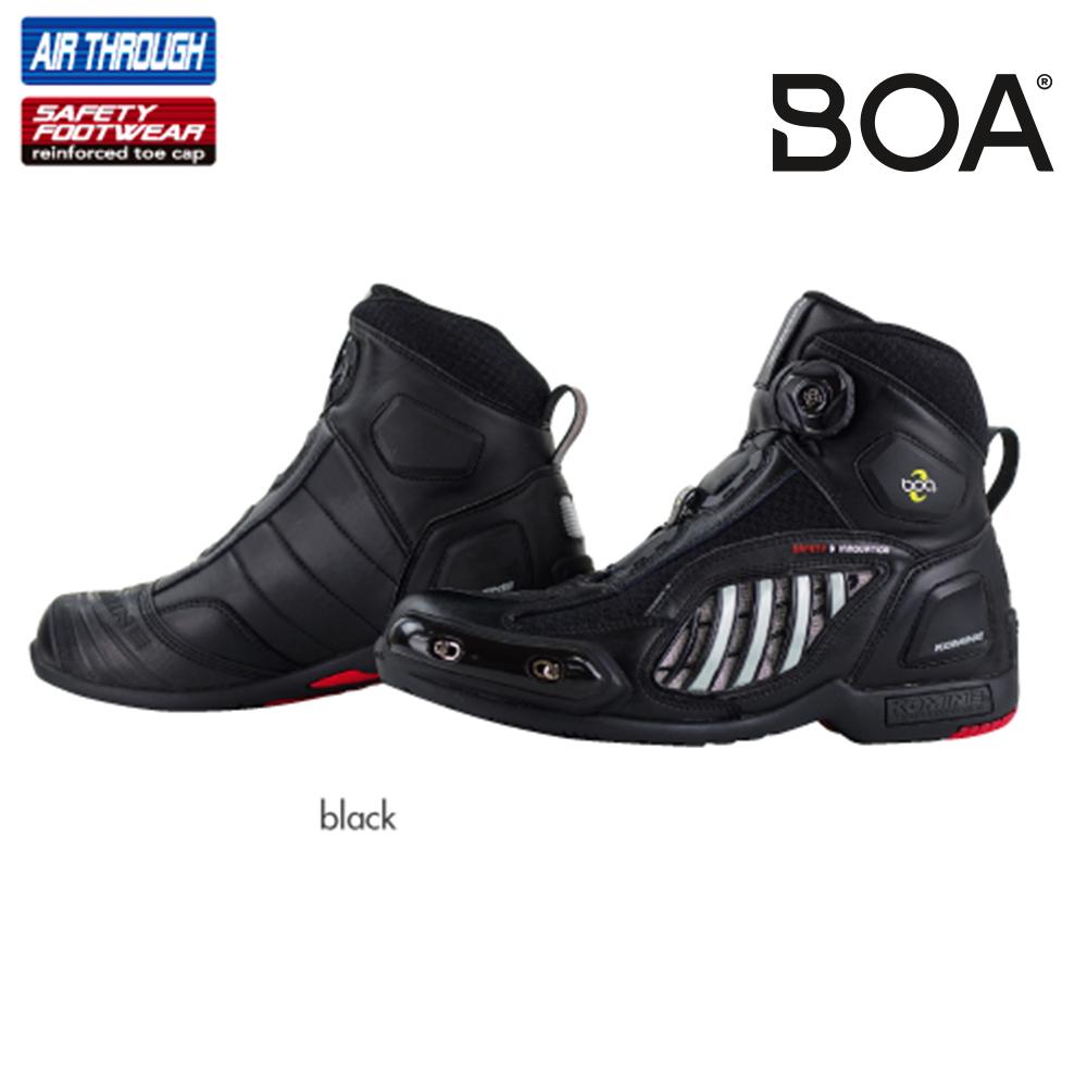 コミネ(KOMINE) BK-078 エアスループロテクト Boa シューズスポート (ブラック/25)