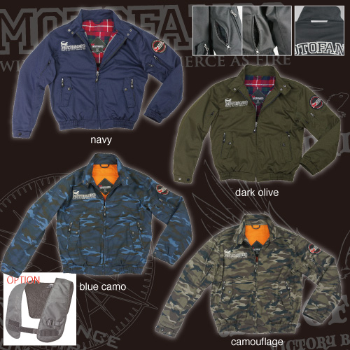 コミネ(KOMINE) JK-591 プロテクトスイングトップジャケット (ダークオリーブ/2XL)
