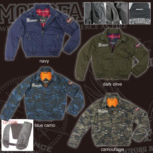 コミネ(KOMINE) JK-591 プロテクトスイングトップジャケット (ブルーカモフラージュ/L)