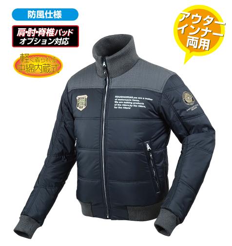 ラフ&ロード(ラフアンドロード) 秋冬モデル RR7953 デュアルウォームジャケット[ブラック/LL]