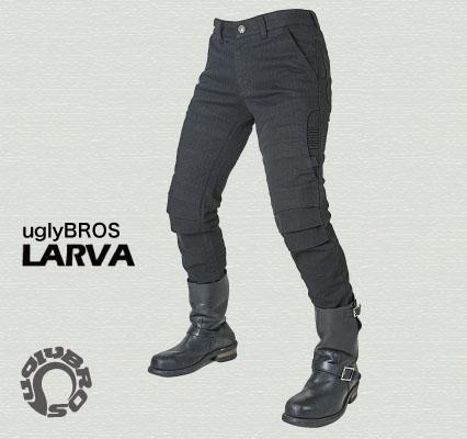 ラフ&ロード(ラフアンドロード)春夏モデル UB0016 uglyBROSMOTOPANTSLARVA【Men's】(ブラック・30インチ)