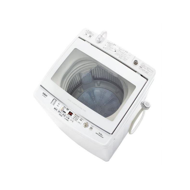 売り切れ必至! 全自動洗濯機 アクア AQUA AQW-GV90J-W aqw-gv90j-w ホワイト 9kg 3Dパワフル洗浄 高濃度クリーン浸透RX ジェルボールコース クリアガラストップ 新品 送料無料, ヨシノグン 142ec5f7