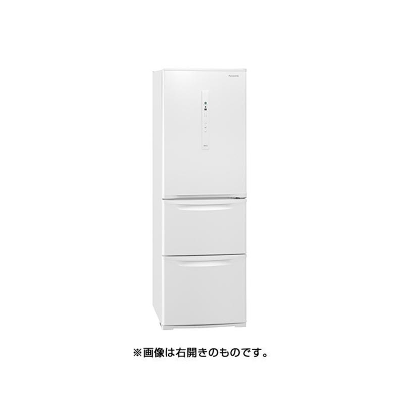 冷蔵庫 パナソニック Panasonic NR-C371NL-W nr-c371nl-w ピュアホワイト 激安通販専門店 365L 左開き 真ん中野菜室 3ドア 送料無料 買取 かしこくエコ ECONAVI 自動製氷機能 新品