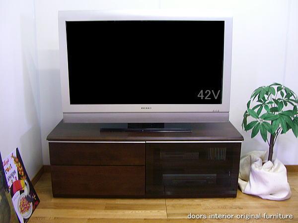 【アウトレット】アクオス・ビエラ・WOOにもお勧め!ホームシアター40型42型の大型テレビ 薄型テレビ対応!シックハウス対策で人にも環境にもやさしいエコ仕様の幅120テレビ台(ブラウン)