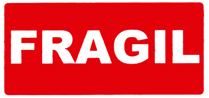 "E-Office: Application delivery label ""FRAGIL"" 50*100mm Ref: 00296 office supplies office ..."