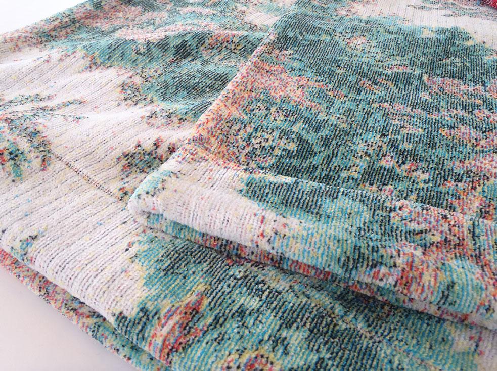 東京西川 サイズサンダーソンタオルケット厚手Sandersonタオルケット 日本製 五彩織 西川産業