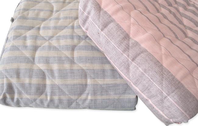 西川リビング シングルサイズ 洗える 本麻敷パッドシーツ(日本製)【2枚セット】 【売れ筋】