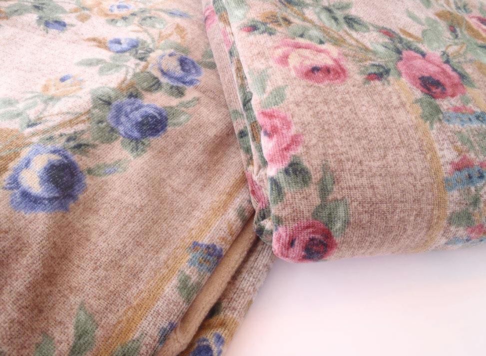 西川リビング シングルサイズ タオル掛け布団カバー(150cm×210cm)(日本製)あったか掛けカバー