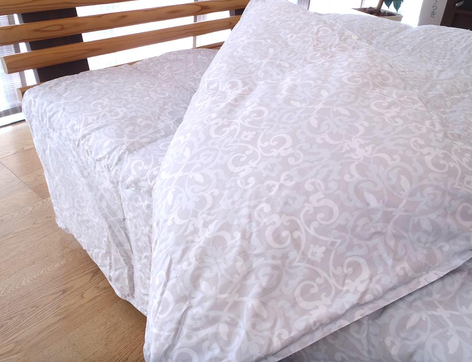 西川 羽毛布団2枚合わせ グースダウン クイーンサイズ 日本製 送料無料 ハンガリー産シルバーグースダウン90%
