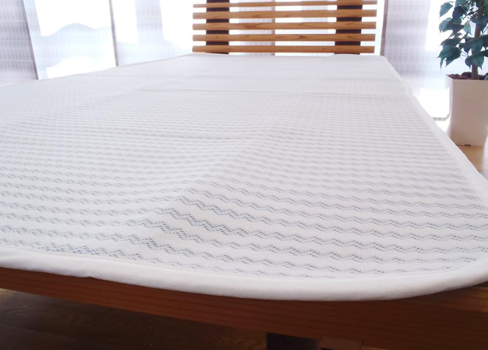 サラフ 涼感クール 敷きパッド (ダブルサイズ)(日本製)