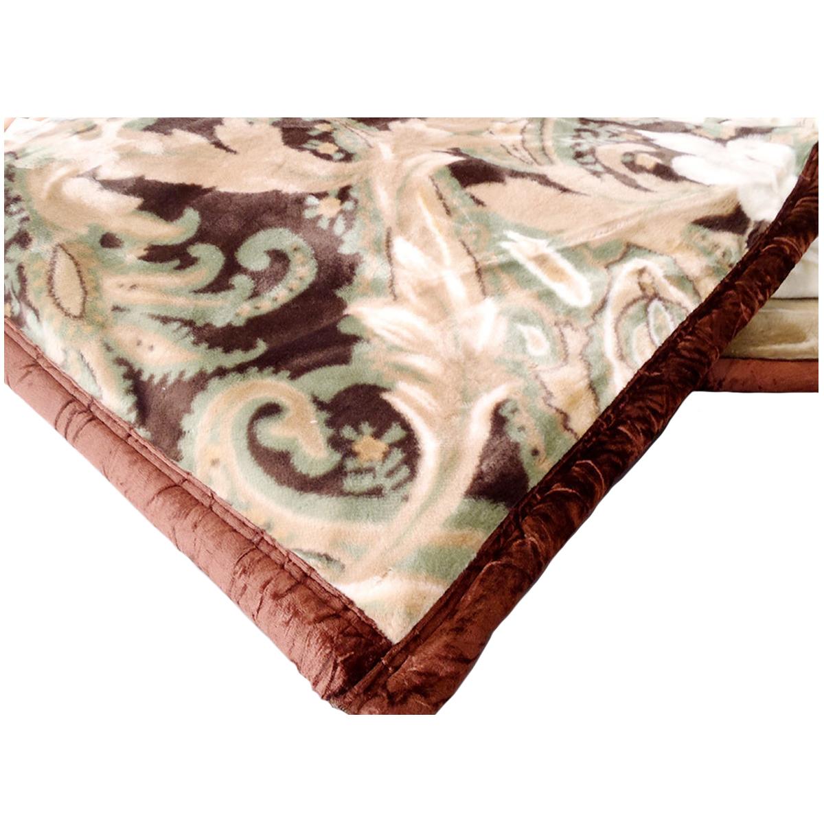 京都西川 ダブル毛布西川 アクリル合わせ ブラウン色 西川ダブル毛布 アクリル毛布 合わせ毛布 日本製 送料無料 ダブルアクリル毛布 厚手