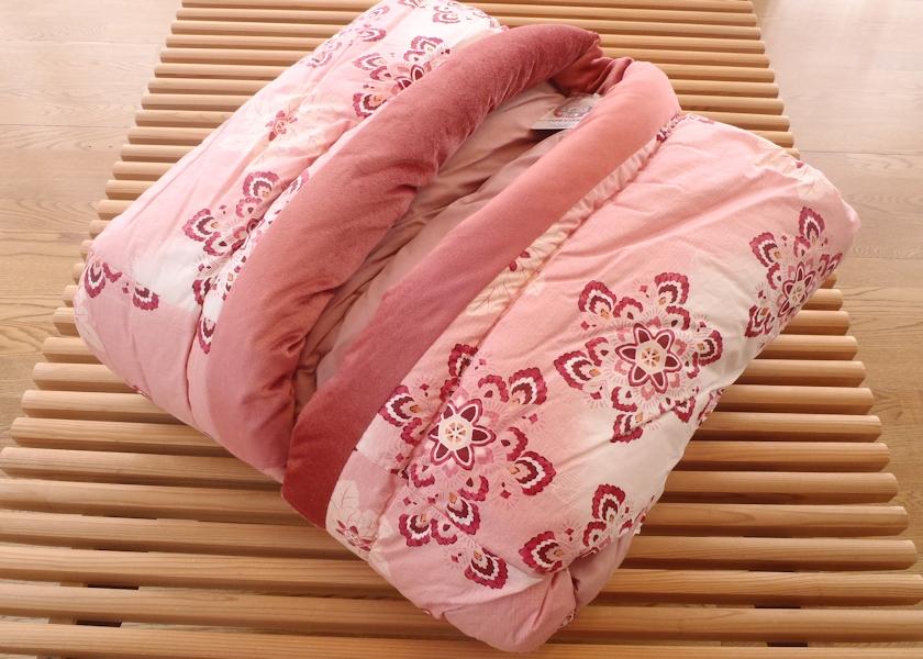 丹前 夜着丹前 かいまき布団 綿100% 夜着丹前 かいまき布団 日本製 綿100% かいまき ピンク色