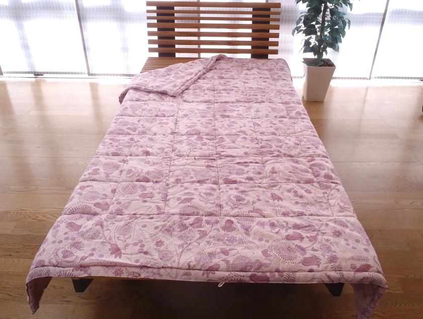 西川 真綿布団 シングルサイズ 洗える 日本製 シルク 手引き真綿 送料無料 真綿掛け布団 1.0kg