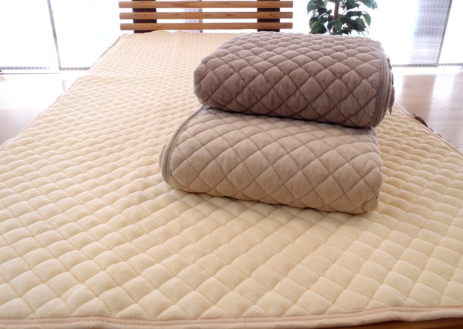 京都西川 ダブルサイズ やわらか綿マイヤー敷きパッドシーツ(オープン価格)