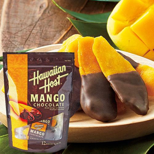 3 980円以上で送料無料 ハワイ お土産 ハワイ土産 ドライフルーツ 食品 Host Hawaiian ハワイアンホースト おみやげ チープ お気に入 チョコがけマンゴー 1袋