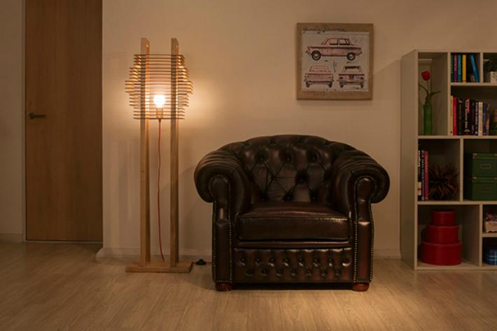 フロアライト LED スタンドライト おしゃれ 照明 木製 モダン 床置き 北欧 led 木製照明 モダン