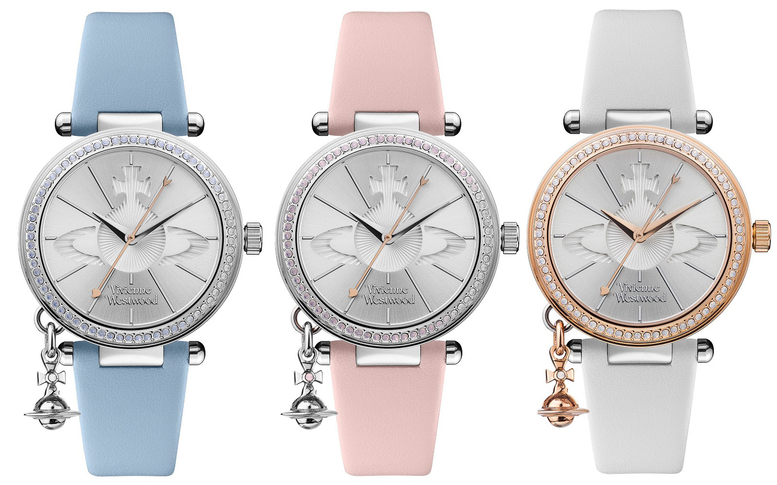 ヴィヴィアン ウエストウッド vivienne westwood 腕時計 レディース オーブ ブルー ホワイト ピンク ペア VV006BLBL VV006RSWH VV006SLPK【並行輸入品】