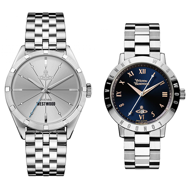 【特典付き】 ヴィヴィアン ウエストウッド vivienne westwood 腕時計 ペアウォッチ シルバー VV192SLSLVV152NVSL【並行輸入品】