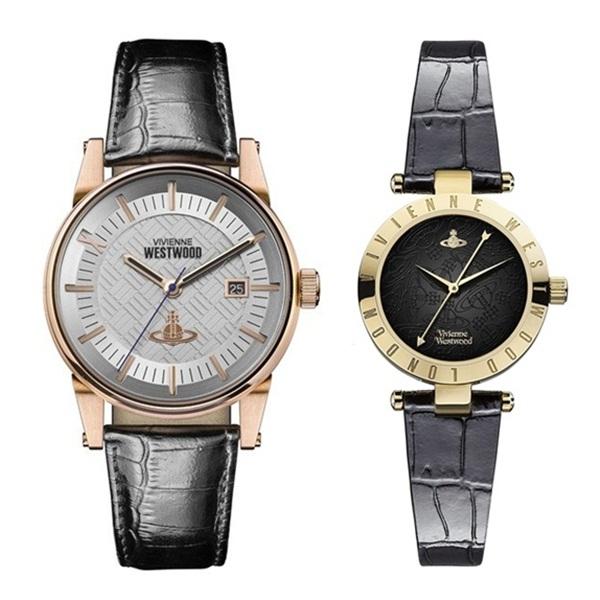 ヴィヴィアン ウエストウッド vivienne westwood 腕時計 ペアウォッチ シルバー VV065SWHBKVV092BKBK【並行輸入品】