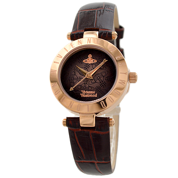 Vivienne Westwood ヴィヴィアンウエストウッド レディース 腕時計 【VV092BRBR】ブラウン×Pゴールド/ブラウンレザー【並行輸入品】