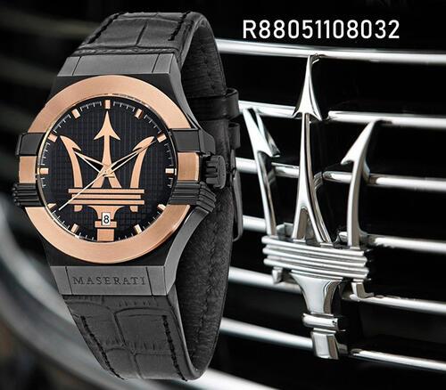 史上最も象徴的なアイテムのオリジナルな創造と自動車製造業者マセラティのデザインを取り込むものです マセラティ Maserati 贈答品 Potenza R8851108032 新入荷 流行 並行輸入品 時計 クオーツ 男性用