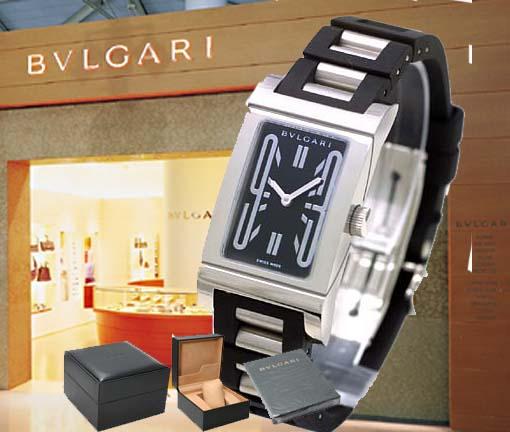 送料無料 ラッピング無料 BVLGARI ブルガリ レッタンゴロ ラバーブレス 腕時計 送料込 ファクトリーアウトレット RT39SV レディース