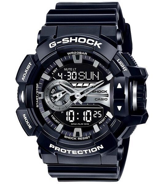 あす楽 送料無料 根強い人気のCASIO ラッピング無料 G-SHOCK CASIO 並行輸入品 カシオ おしゃれ メーカー再生品 アウトドア メンズ GA-400GB-1ADR 腕時計