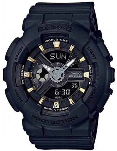 あす楽 G-SHOCK 人気 おすすめ Baby-G お買い得品 ベイビージー BA-110GA-1A 海外モデル レディース 腕時計 CASIO 並行輸入品 カシオ ブラック