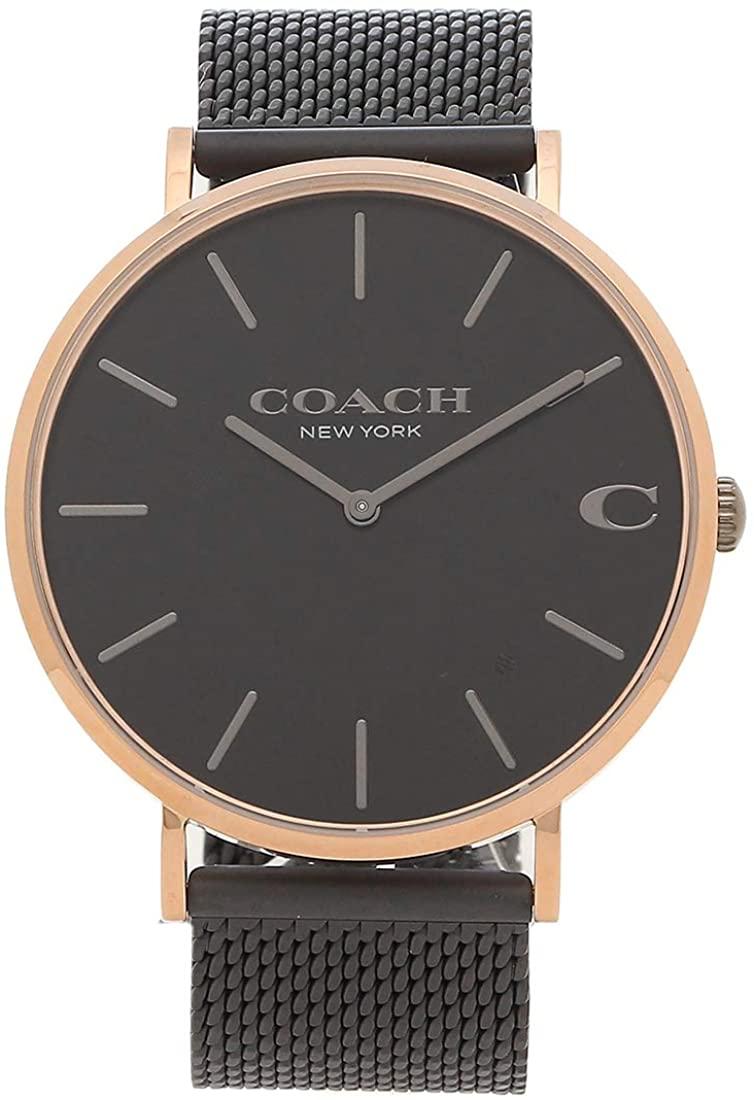 あす楽 送料無料 男性にも人気のCOACH ラッピング無料 COACH コーチ 腕時計 ディスカウント ブラック 並行輸入品 感謝価格 チャールズ メンズ CHALS 41MM 14602470