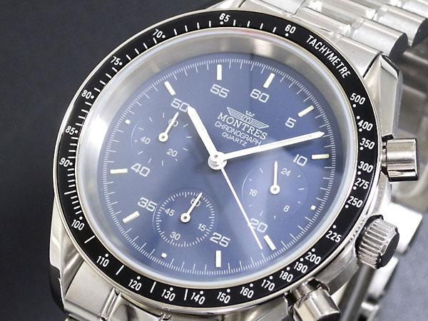 Montres モントレス 腕時計 クロノグラフ メンズ
