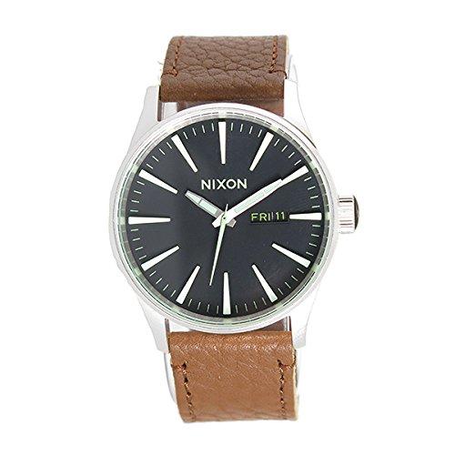 NIXON ニクソン 腕時計 SENTRY LEATHER セントリーレザー BLACK/SADDLE A105-1037 メンズ【並行輸入品】
